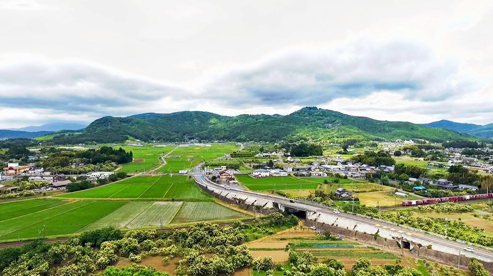 6月11日 栗の花 8分咲 岩間地方の景色