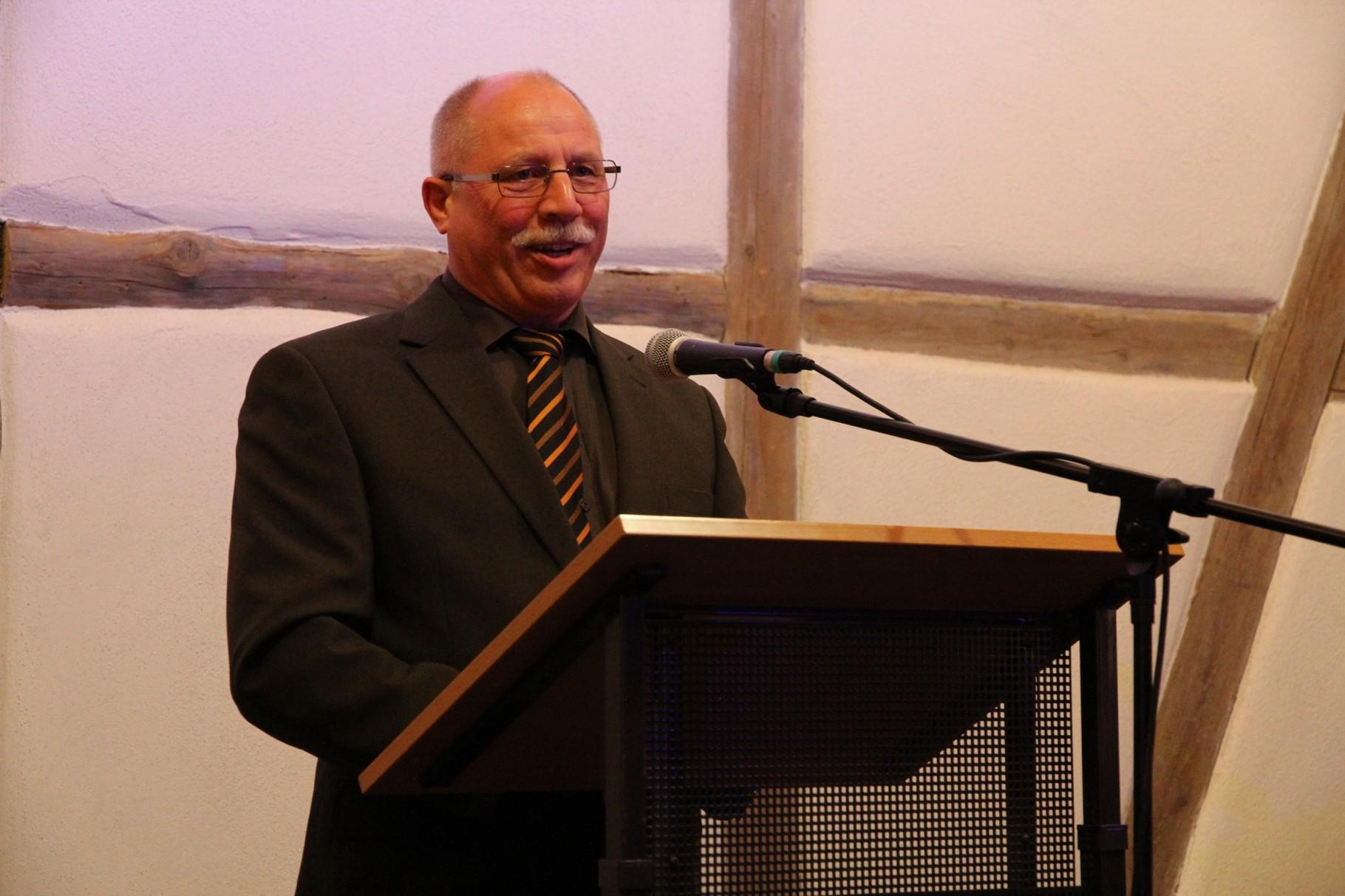 Der Vorsitzende des evang. Ältestenkreises Klaus Rinklin