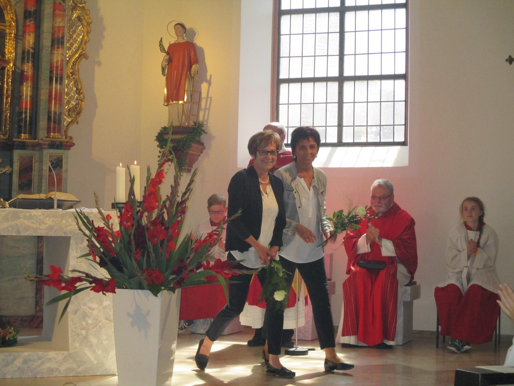 Die beiden scheidenden Filialausschussvorsitzenden Gabi Haber und Silvia Diener-Galm