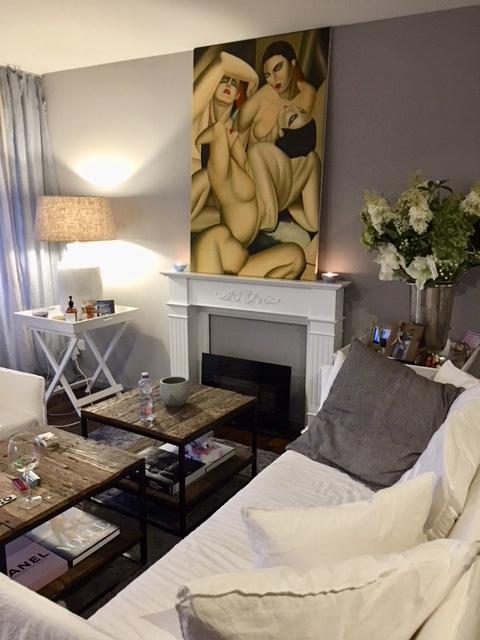 Wohnzimmer mit Gervasoni Sofa