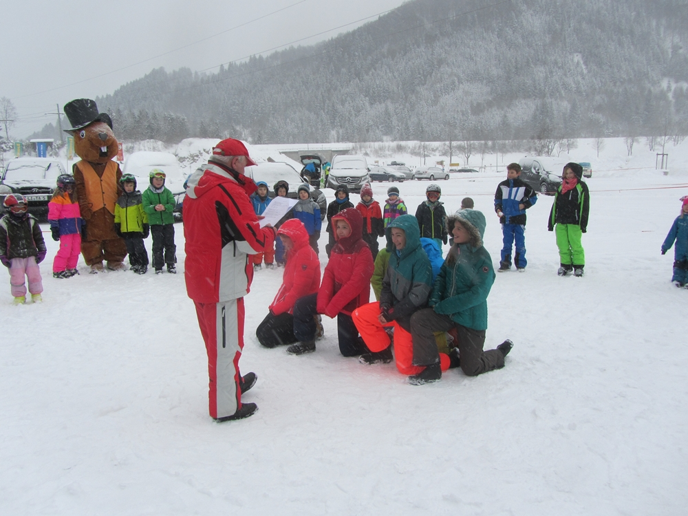 EvM bei der Skitaufe