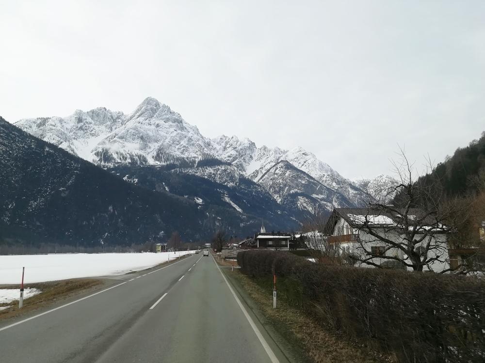 Auf der Heimreise Blick auf die Lienzer Dolomiten