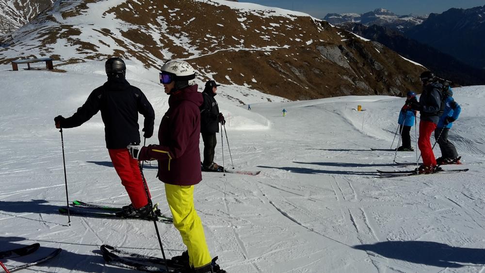 Im Latemar - Skigebiet oberhalb von Pampeago
