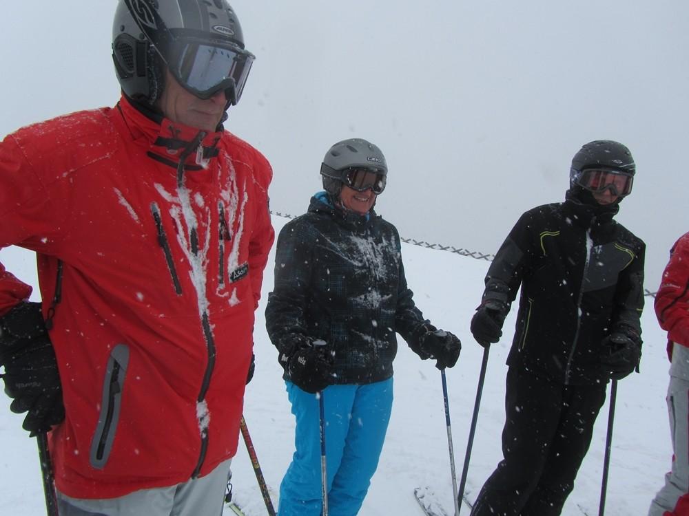 Schneefall am Neunerköpfle