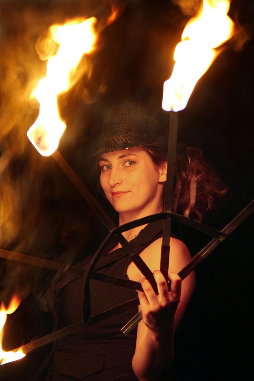 Feuershow mit Leidenschaft,