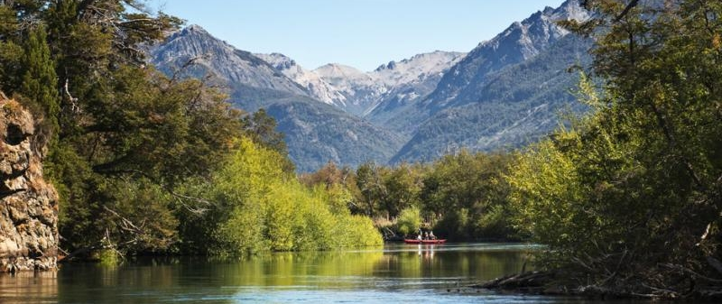 Fly fish Central Patagonia, Argentina, FFTC.club destination, El Encuentro Fly Fishing partnered Laguna Larga Lodge, Fly fish freshwater destinations. Wild and Trophy Trout. Lower Rio Corcovado