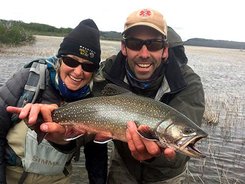 Fly fish Central Patagonia, Argentina, FFTC.club destination, El Encuentro Fly Fishing partnered Tecka Lodge, Fly fish freshwater destinations. Wild and Trophy Trout. Brook trout, Guide Julian