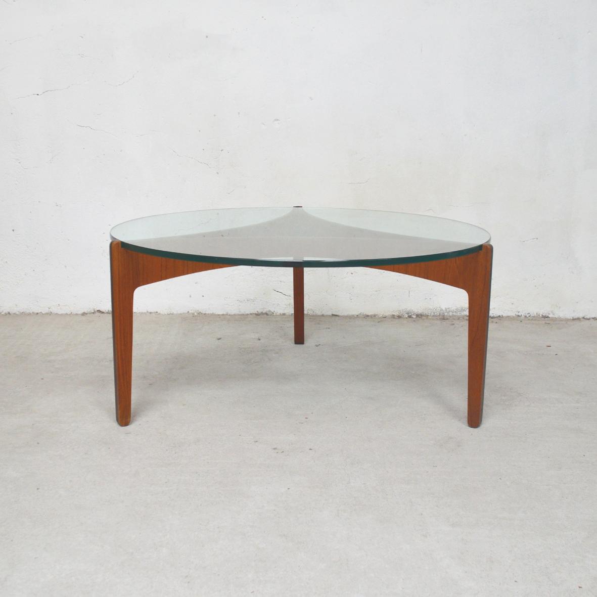 Table Tianggê Verre Basse Danoise Teck exrCBdo