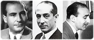 De g. à d. : Juan Quintero, Antonio Quintero et Jesús María Arozamena