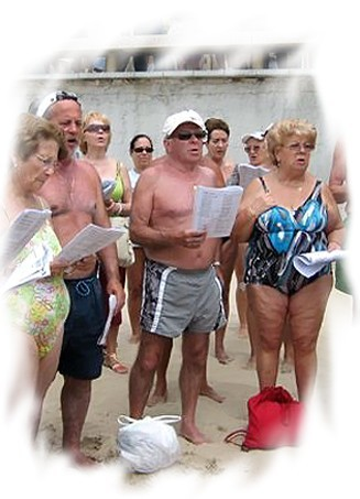 A veces, José canta con un grupo de amigos vasco-navarros