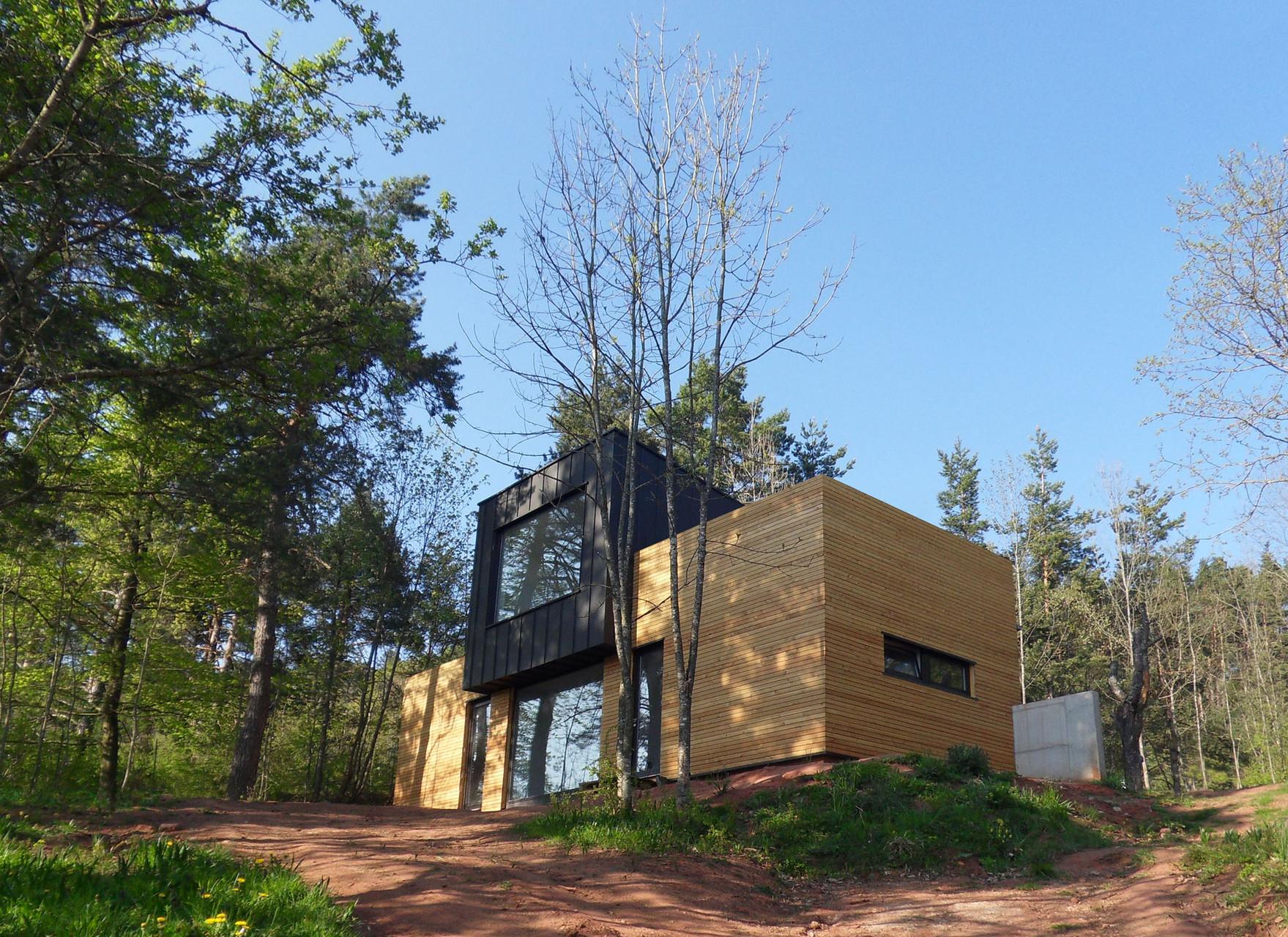 Maison de vacances au houssot anne bechtold jean guy for Construction bois vosges