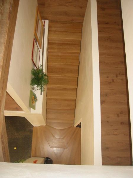 Escalier bois à deux départs