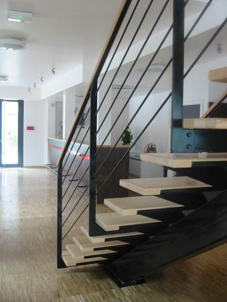 Détail de l'escalier menant au 1er étage