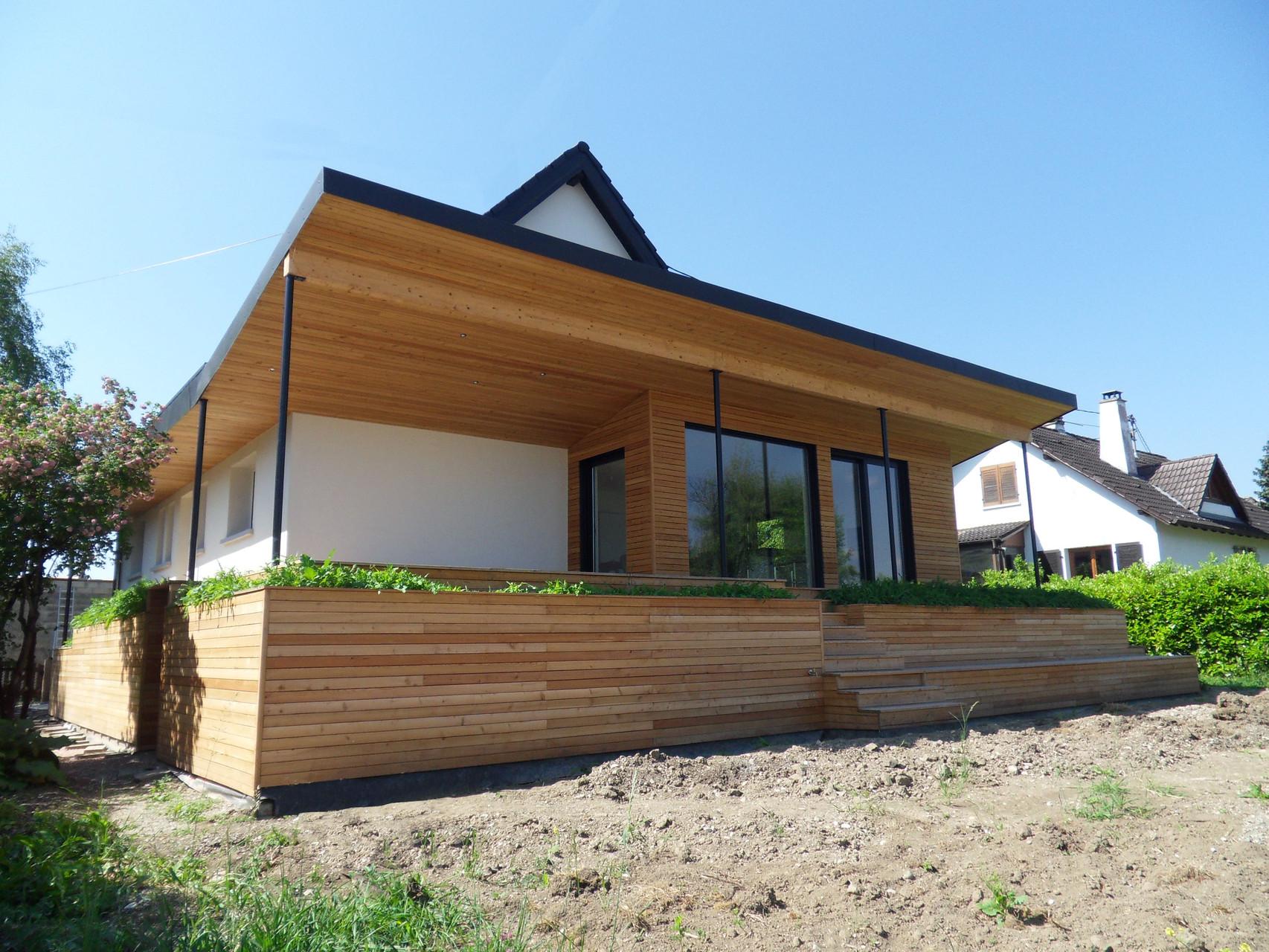 Vue de l'extension et de la terrasse