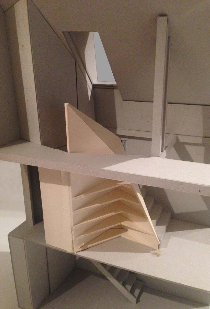 Maquette du projet d'escalier