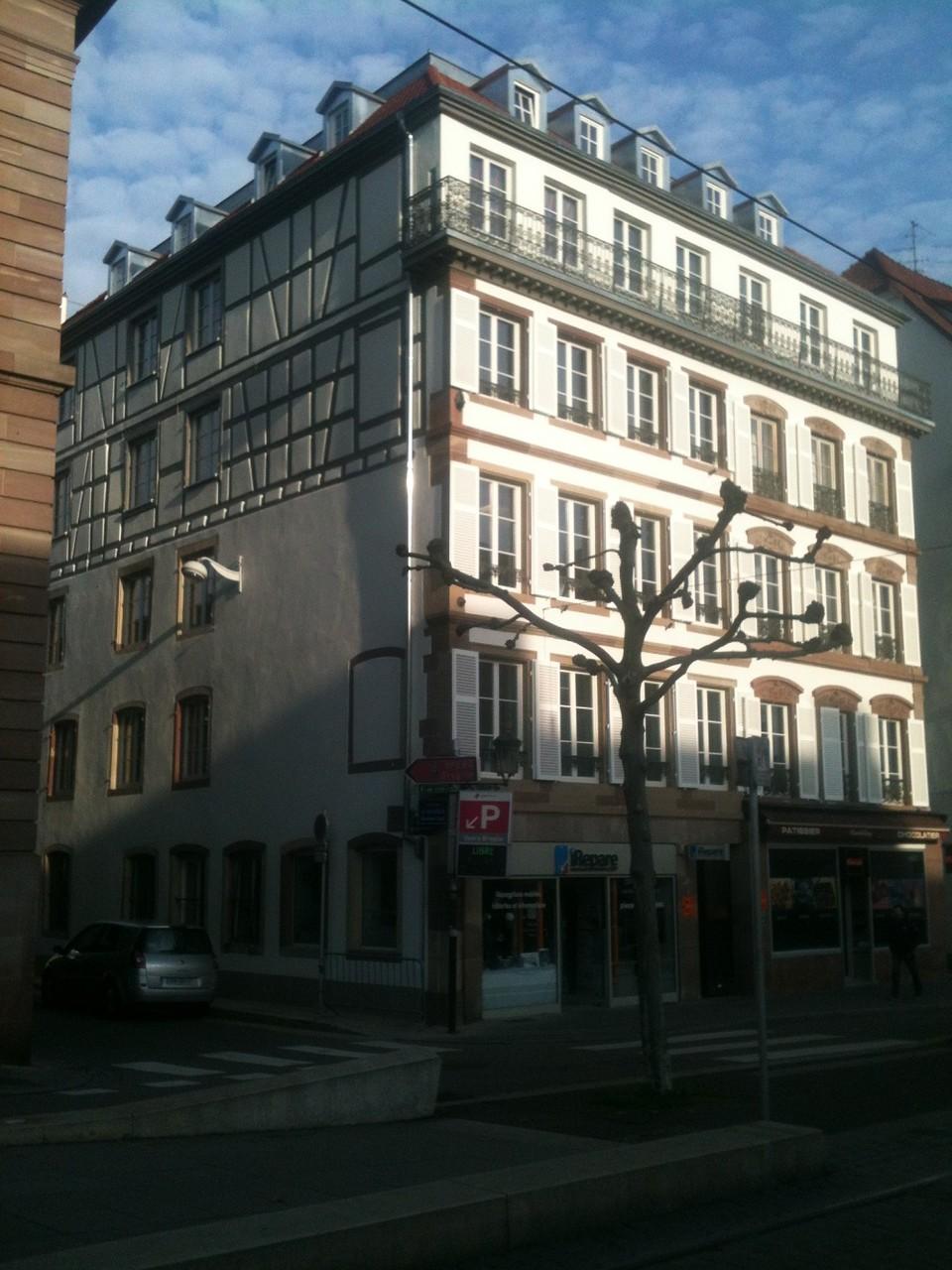 Vue de l'immeuble après ravalement