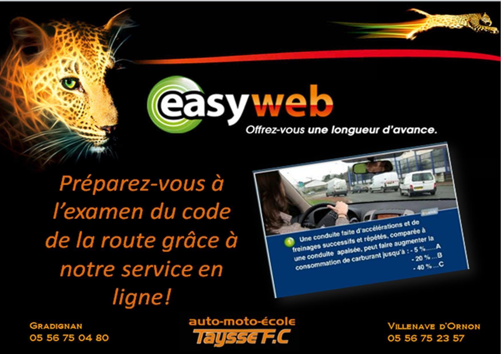 Formation du code en ligne avec suivi proposée par le centre de formation Taysse FC