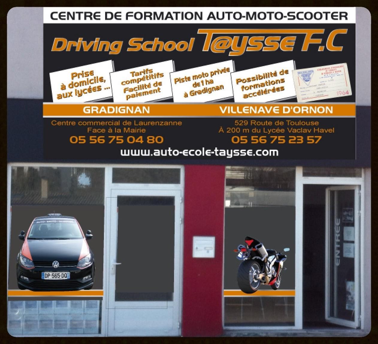Centre de formation auto moto scooter Villenave d'Ornon