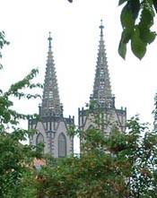 die Zwillingstüme der St.Ägidienkirche