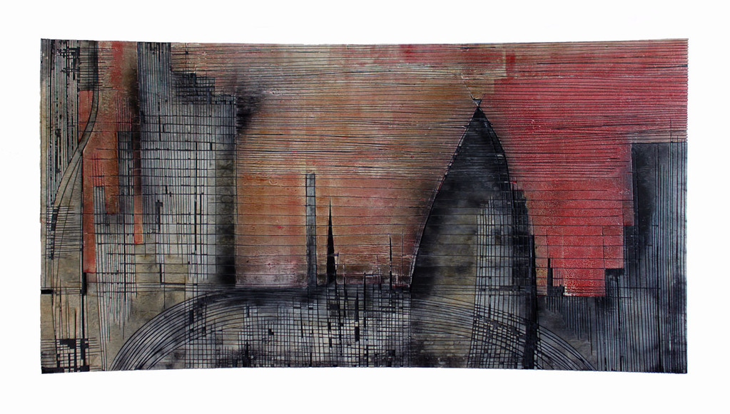 New York est un Bum - Technique mixte - 122 x 234 cm