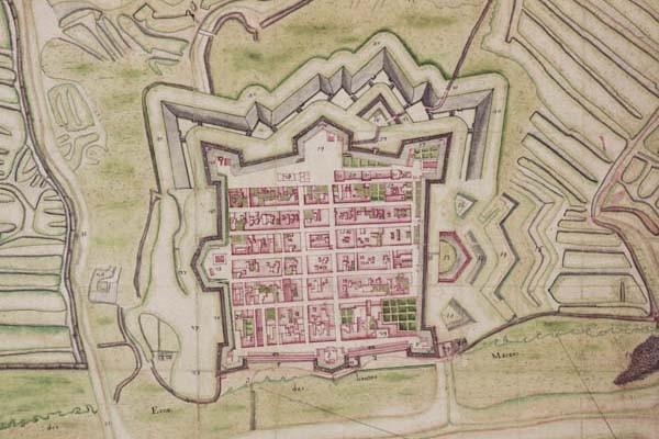 plan de Brouage au début du XVIIIe siècle
