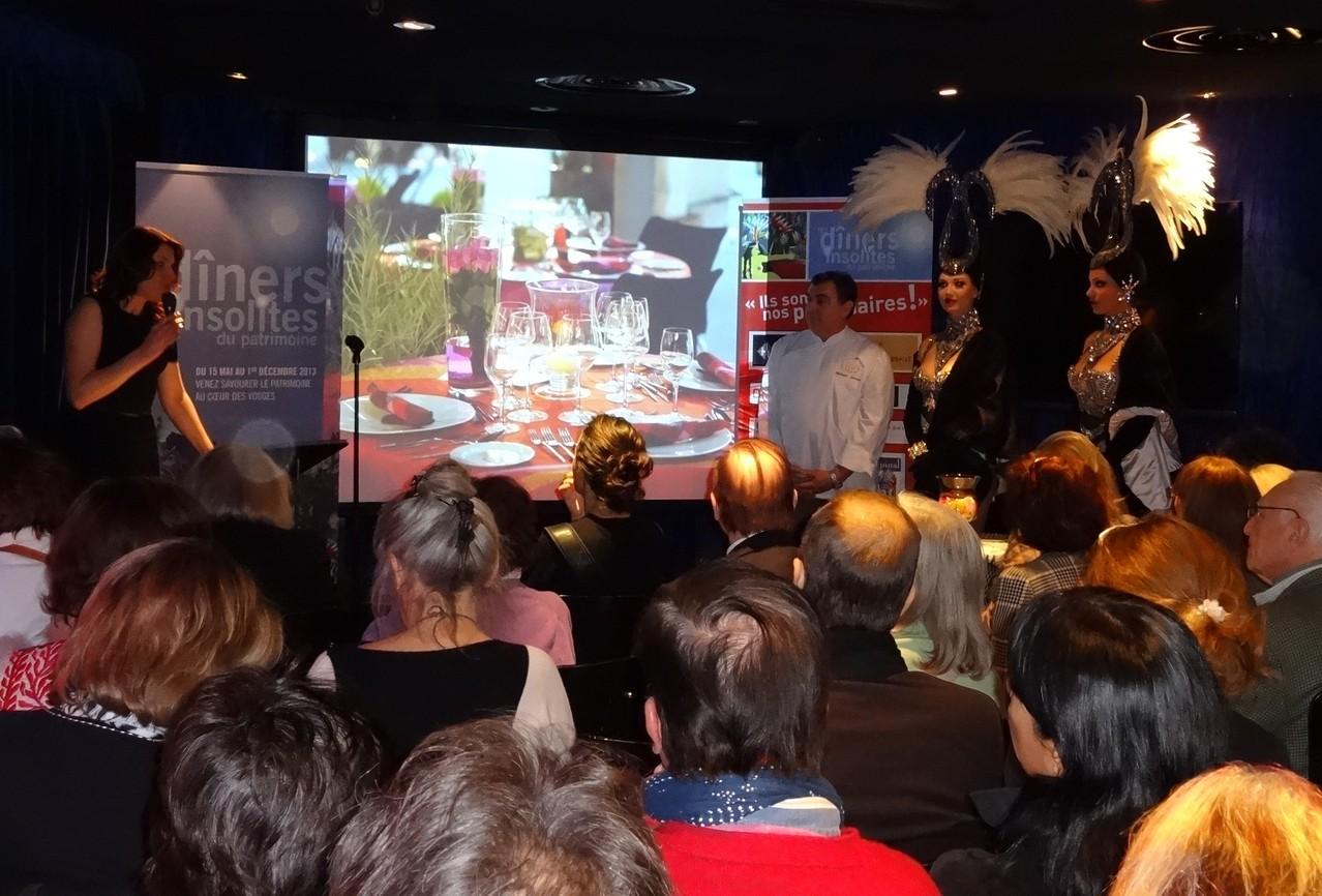 Conférence de presse - lancement des Dîners Insolites du Patrimoine - LIDO de Paris 2013