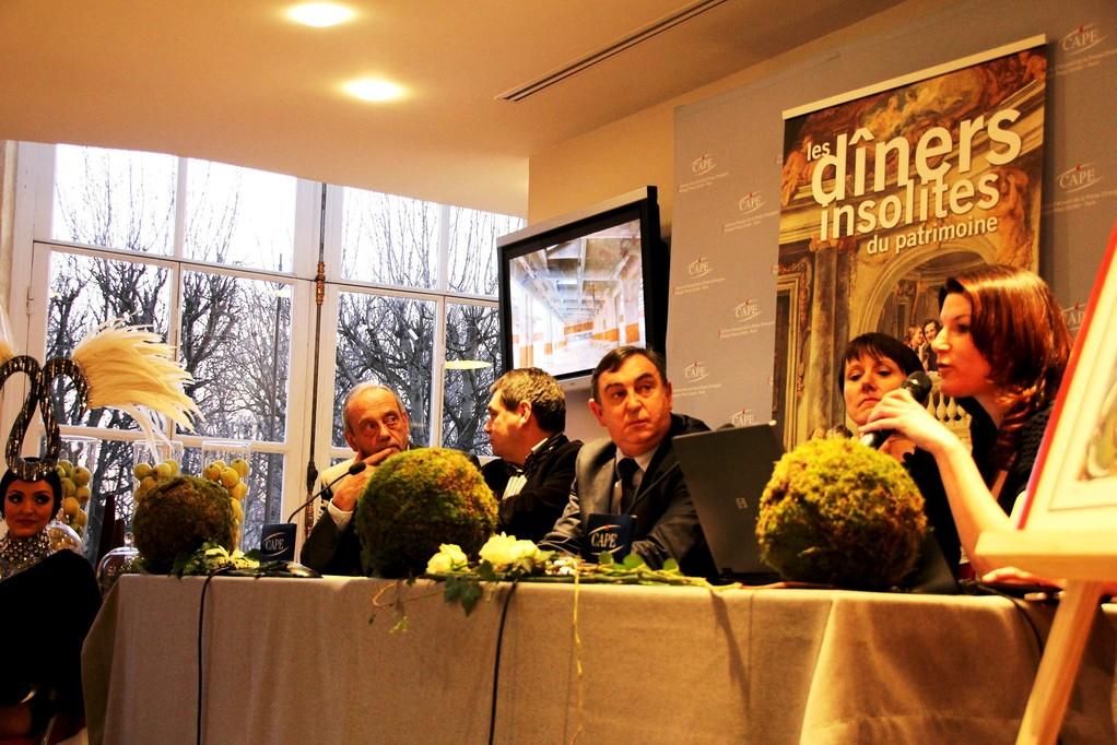 Conférence de presse au Grand Palais 2012 - Dîners Insolites du Patrimoine