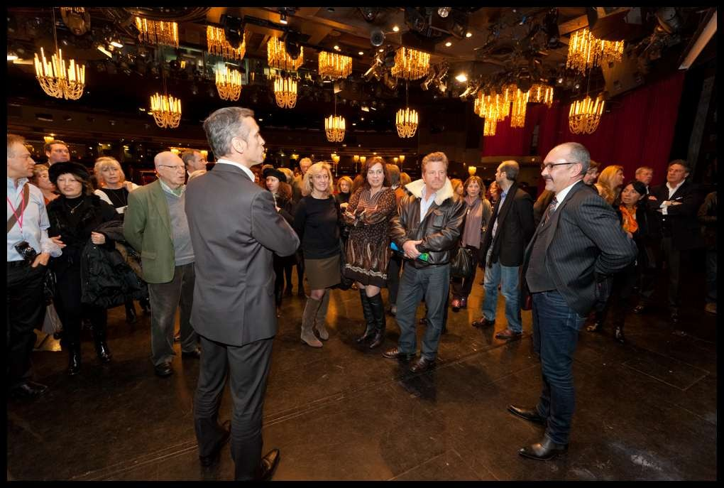Visite des coulisses pour les 69 journalistes présents et les invités vosgiens