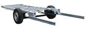 Prolunge per telaio e adattatore per telaio come base per ulteriori accessori come ganci di rimorchio o portamoto posteriori per camper e furgoni.