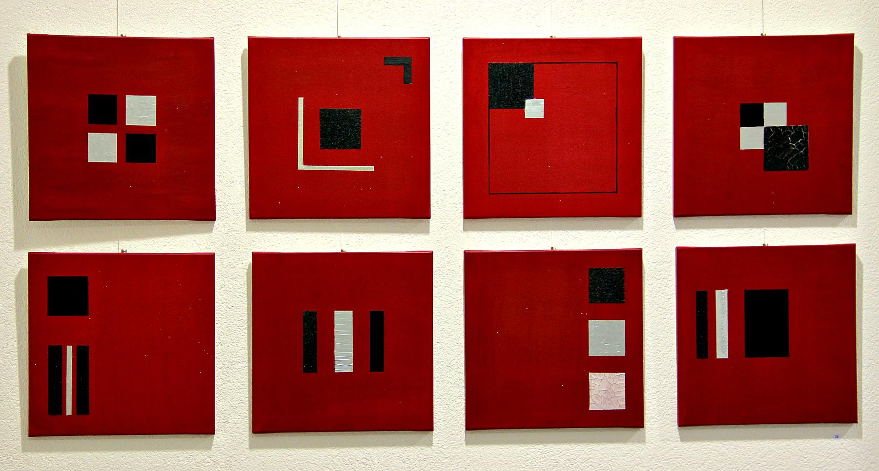 Bilder rot-schwarz/40x40/pro stück sfr 85 ab 3 stück auf anfrage