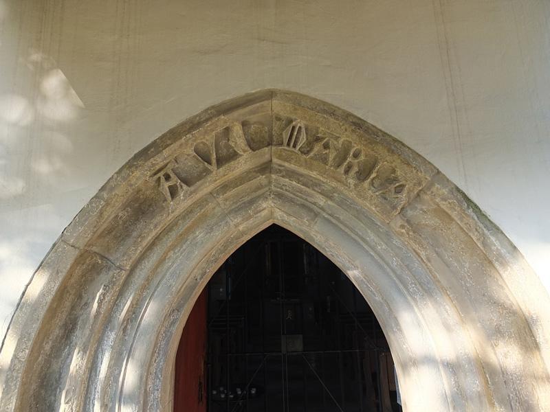 Eingang von St. Mauritius, Riedhausen