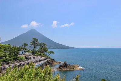 kaimondake 鹿児島県薩摩半島の南端にある開聞岳