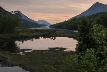 Loch Lomond ローモンド湖の夕暮れ