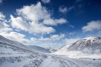 Cairngorms 蒸留所に近いケアンゴームズ国立公園の雪景色