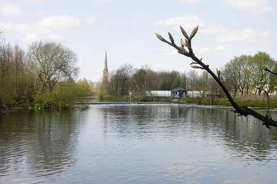 River Mersey ウォリントンのマージー川