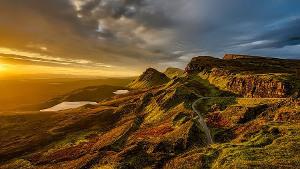 Scotland スコットランドの夕陽