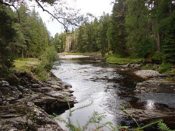 River Dee スコットランドのディー川