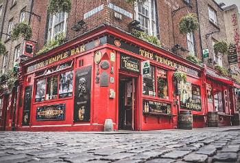 The Temple Bar アイルランドで有名なテンプルバー