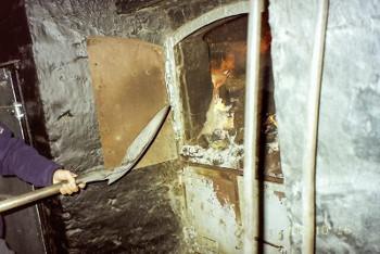ピートを焚く画像