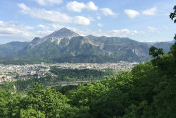 秩父市の武甲山の画像
