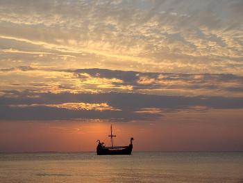 ヴァイキングの船の画像