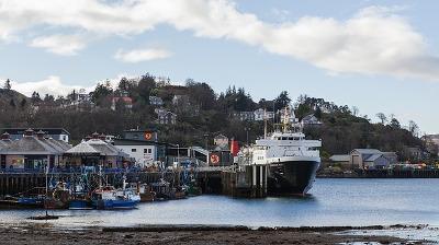 スコットランド・オーバンの港町の画像