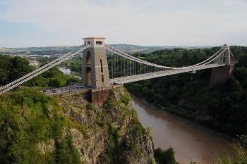 Clifton Suspension Bridge エイボン川とクリフトン吊り橋