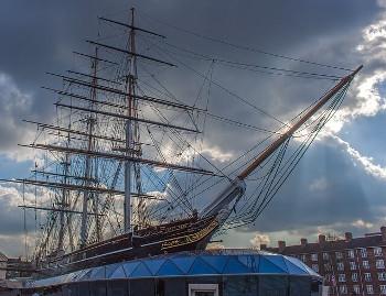 Cutty Sark 復元された帆船「カティサーク号」