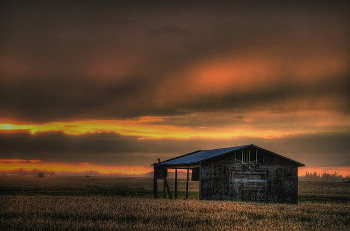 Alberta アルバータ州の農村