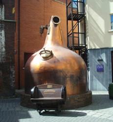 Jameson Distillery Bow ジェムソン博物館のポットスチル