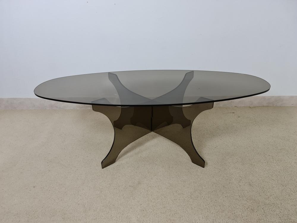 Table basse en verre Fumé vers 1970