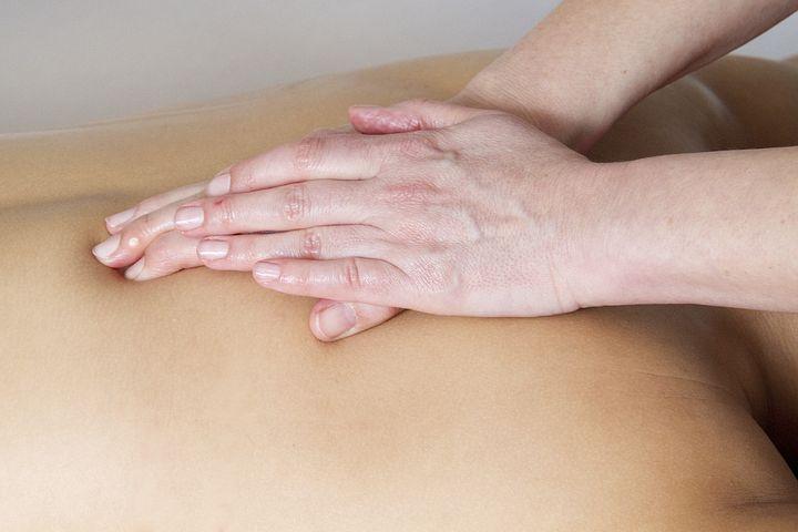 massage, californien, visage, dos