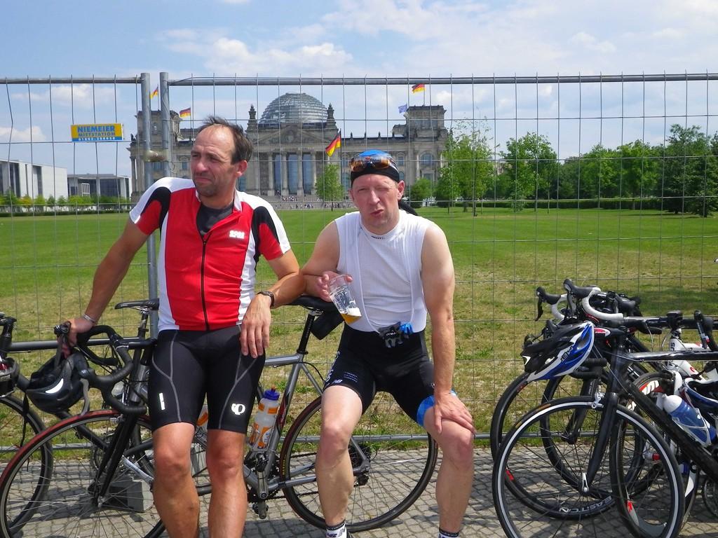und vor dem Reichstag...
