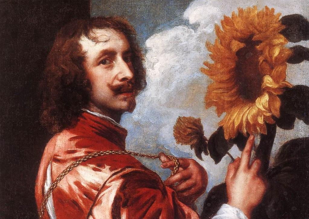 Van Dyck - Autoritratto con un girasole